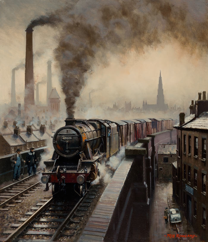 Artist Rob Rowland Member Of The Guild Of Railway Artists